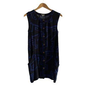 Ecote Women's Black & Blue Tunic with Pockets US S